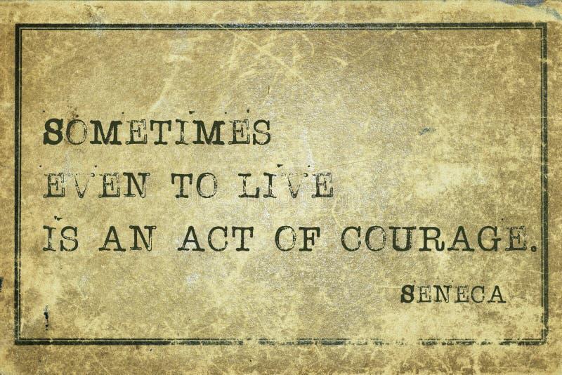 Act courage Seneca royalty free stock image