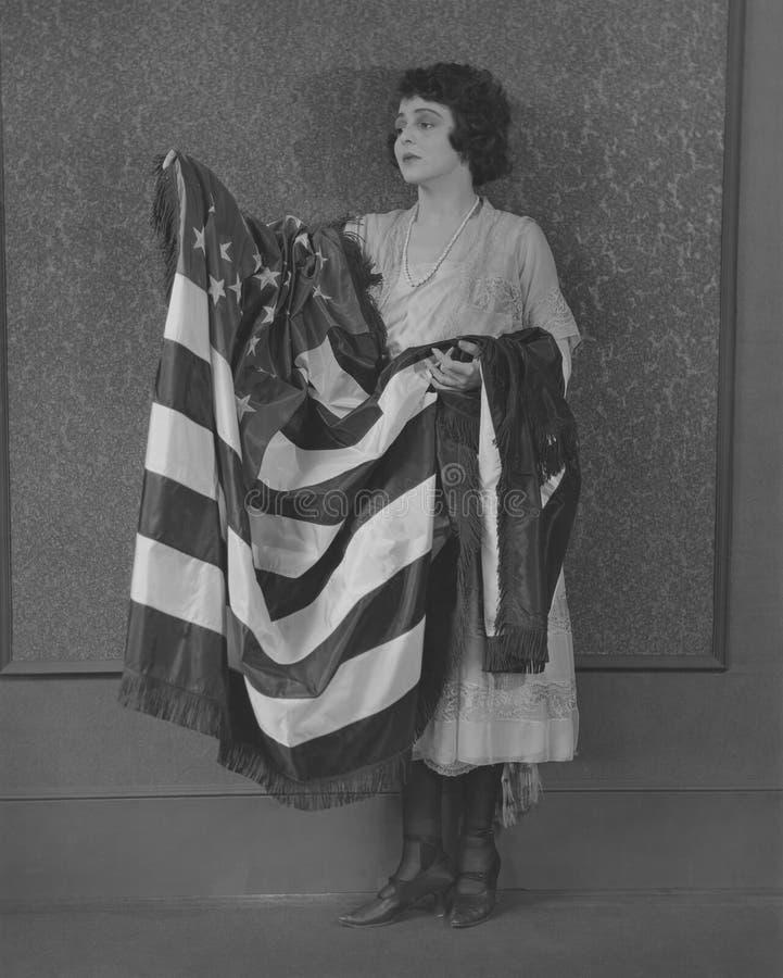 Act of patriotism stock photo