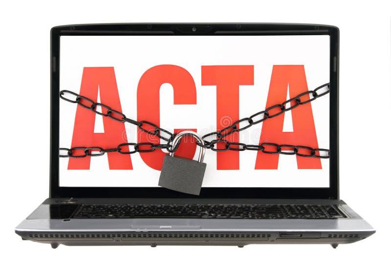 ACTA lizenzfreies stockbild