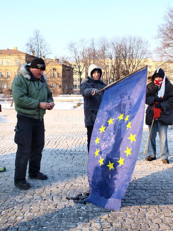 acta mot Europa lublin poland arkivbild