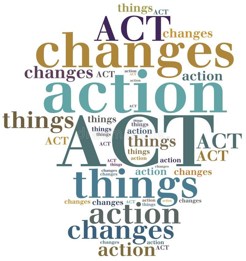 acte choses de changement d'action illustration libre de droits