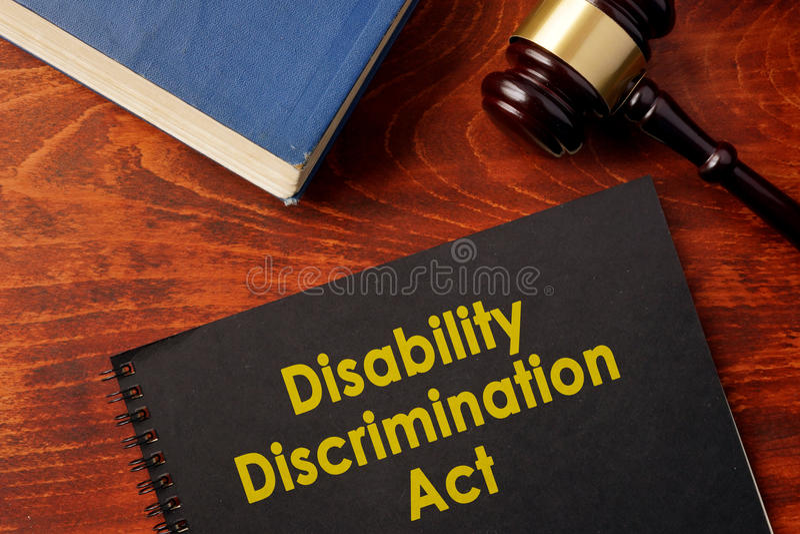 Acte DDA de discrimination d'incapacité image stock