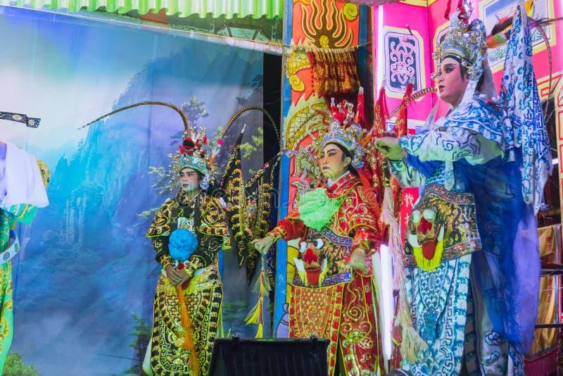 Acteur chinois d'opéra traditionnel de musical de représentation de culture de cantonese photographie stock libre de droits