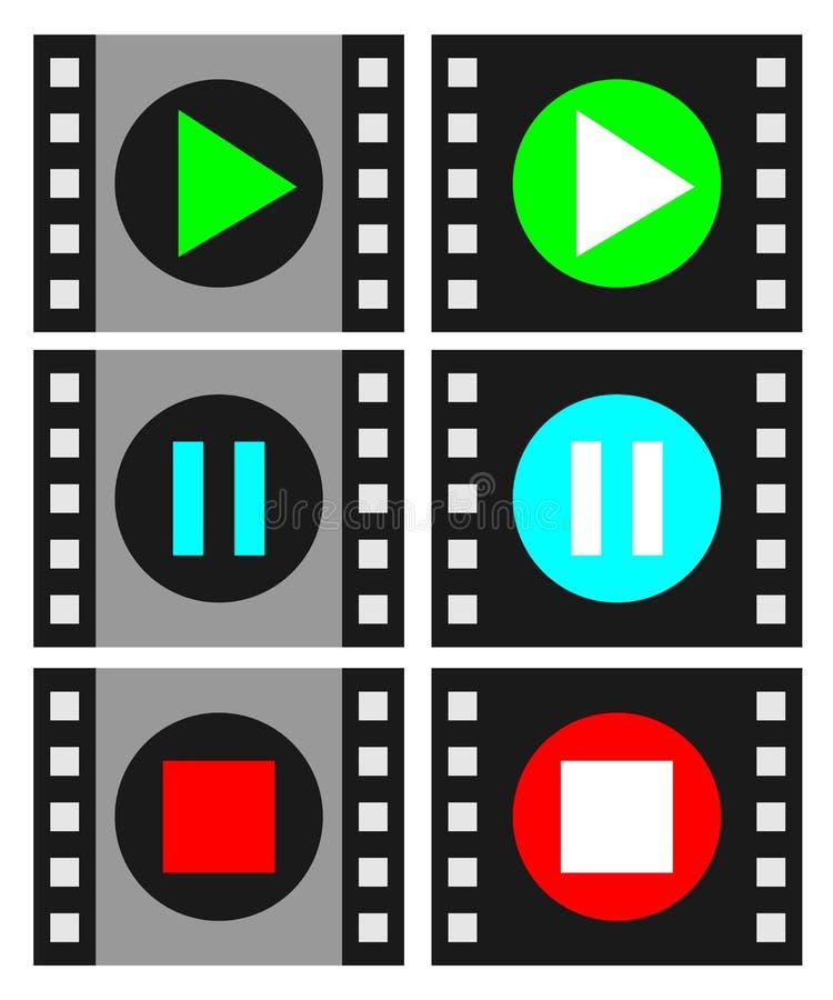 Acteur de cinéma illustration libre de droits