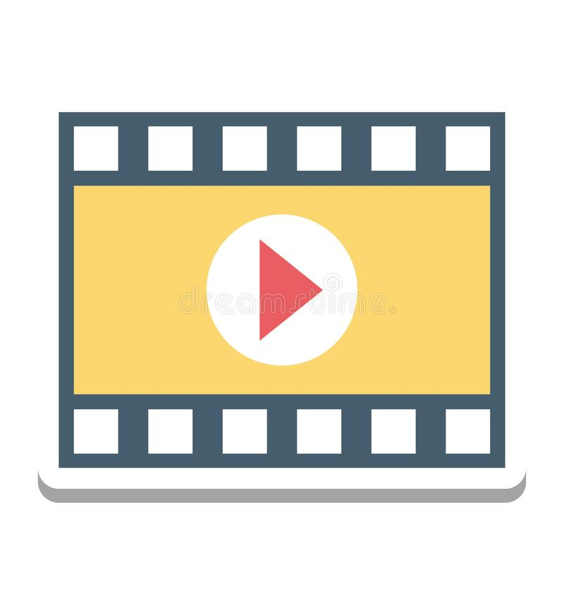 Acteur de cinéma, icône de vecteur de magnétoscope editable illustration libre de droits