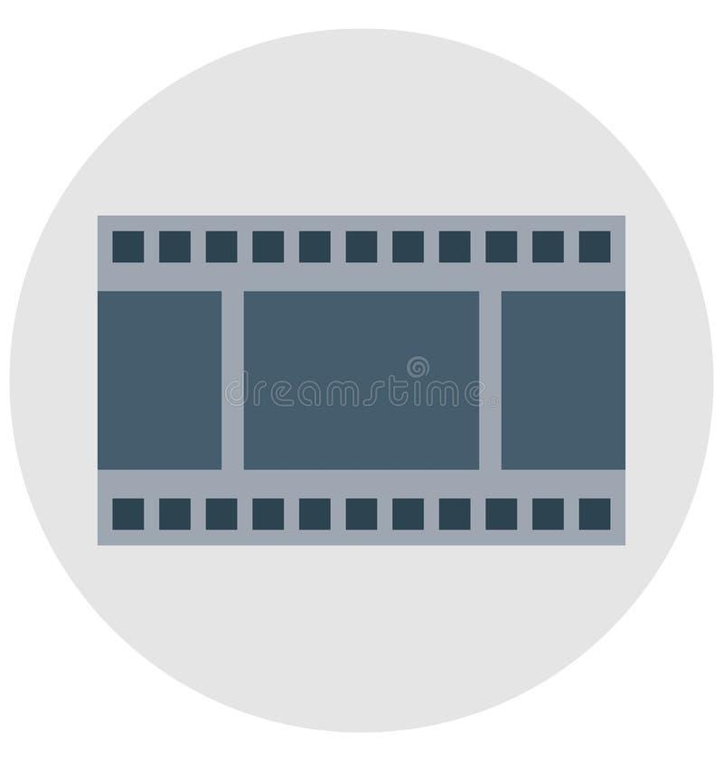acteur de cinéma, magnétoscope, icônes d'isolement de vecteur qui peuvent être facilement modifiées ou éditées illustration de vecteur