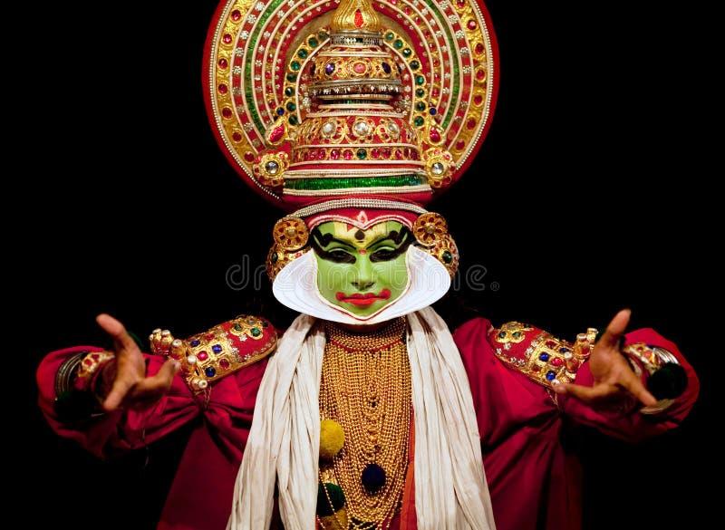 Acteur de Kathakali en Inde photo stock