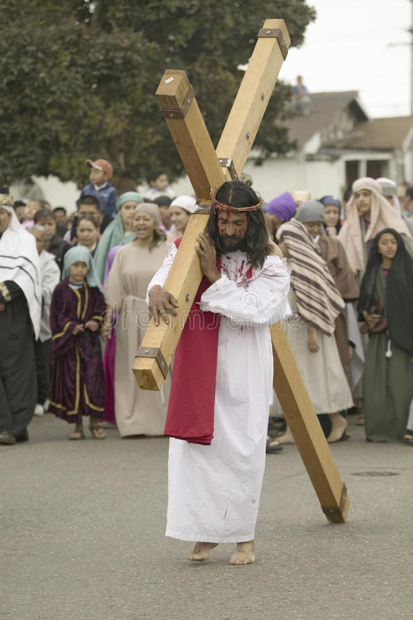 acteur die Jesus-Christus afbeeldt royalty-vrije stock afbeelding