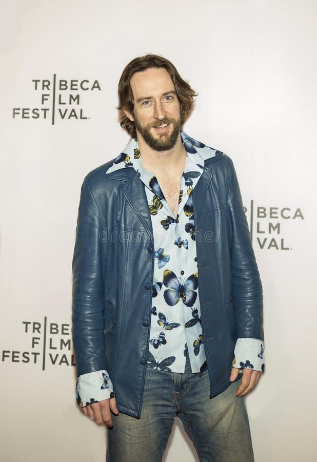 Acteur Eddie Marsen au permiere 2017 de festival de film de Tribeca du ` l'exception ` images stock