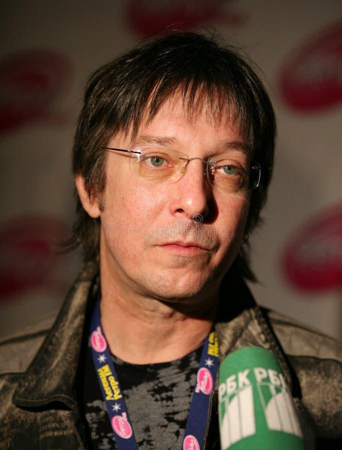 Acteur et chanteur russes Andrey Zabludovsky photo stock