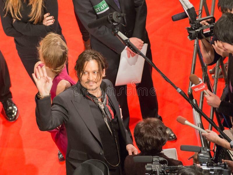 Acteur Johnny Depp image libre de droits
