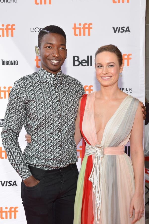 Acteur Mamoudou Athie en Brie Larson bij de première van ` Unicorn Store ` bij Internationaal de Filmfestival van Toronto van 201 stock afbeeldingen