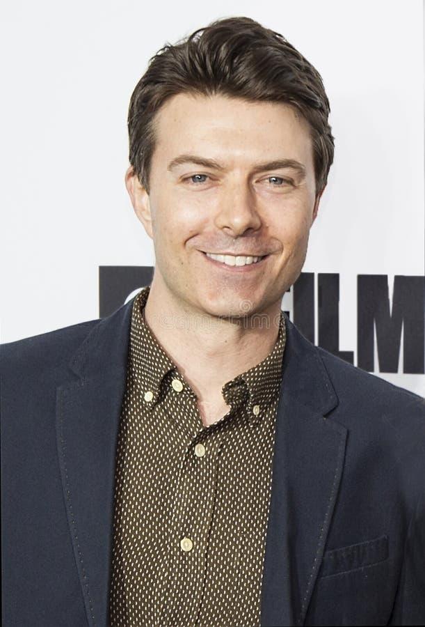 Acteur Noah Bean Arrives voor het Openen van Nacht bij het 17de Tribeca-Filmfestival stock fotografie