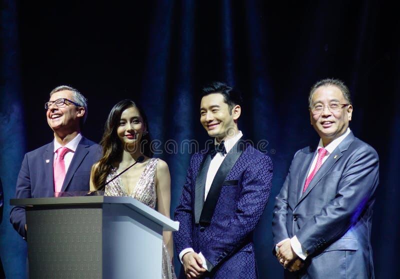 Acteur ou actrice chinois célèbre photo stock