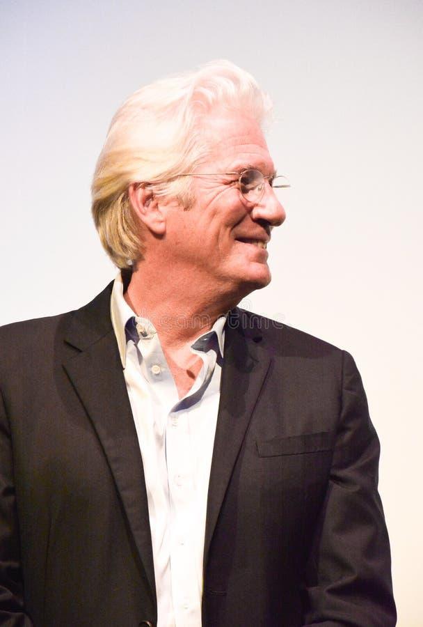 Acteur Richard Gear bij de persconferentie van ` Drie Christs ` bij TIFF17 royalty-vrije stock fotografie