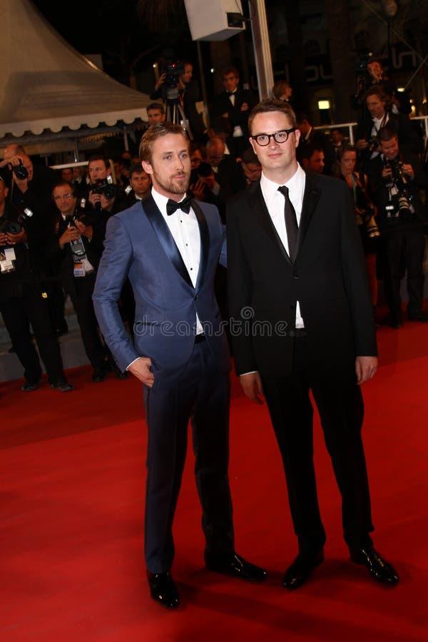 Acteur Ryan Gosling et enroulement de directeur Nicolas au sujet de photographie stock