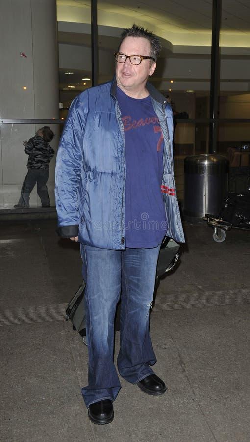 Acteur Tom Arnold chez LAX image libre de droits