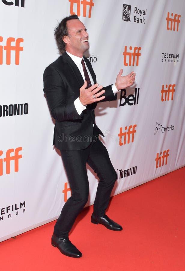 Acteur Walton Goggins bij première van Drie christsfilm in Roy Thomson Hall bij internationaal de filmfestival van Toronto royalty-vrije stock fotografie
