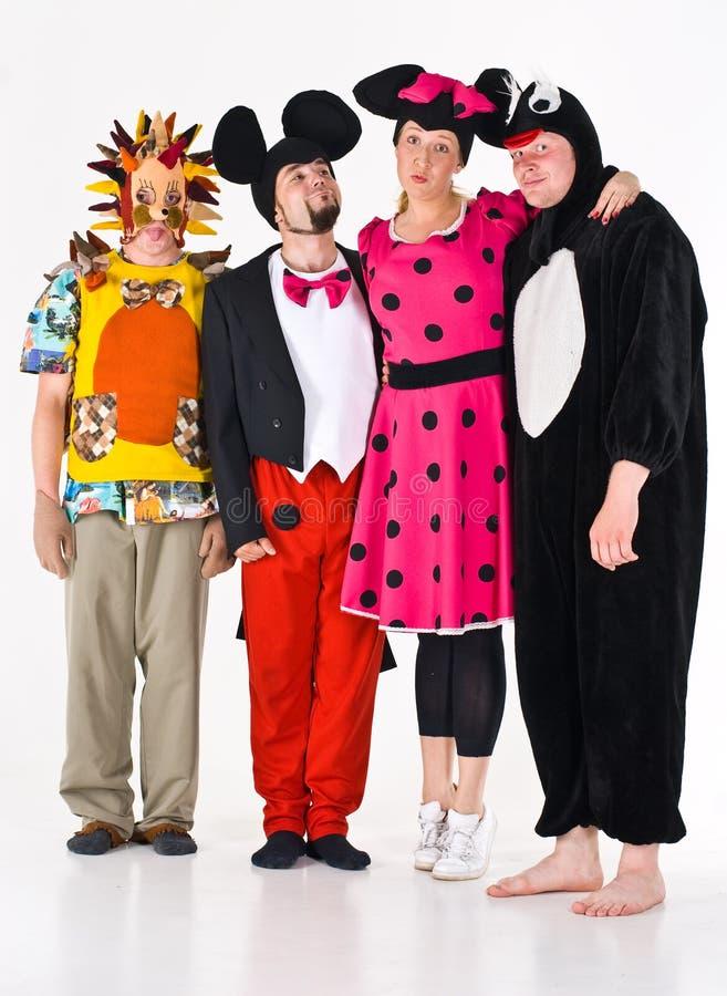 Acteurs dans des costumes photo stock