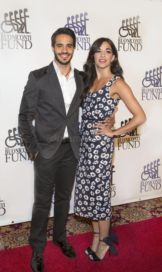 Acteurs Ektor Rivera et Ana Villafane image libre de droits