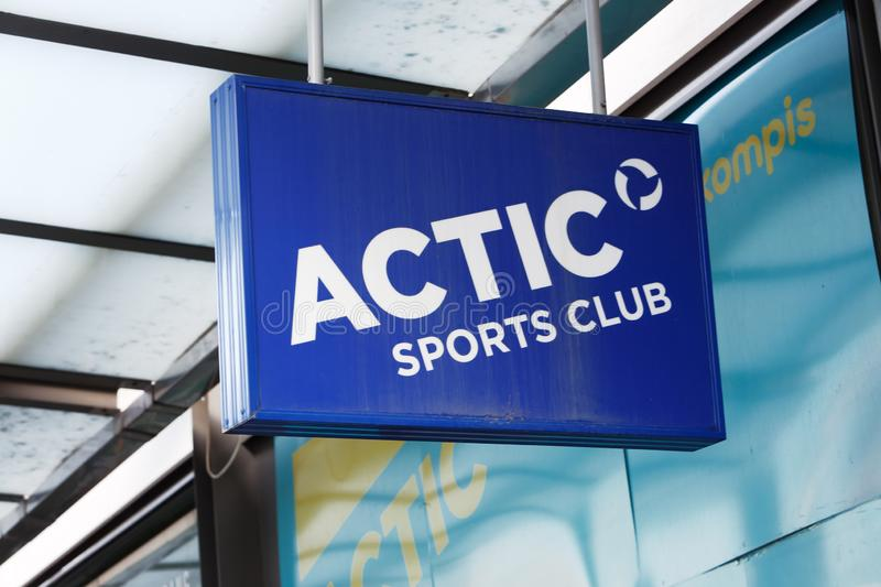 Actic sports club royalty free stock photography