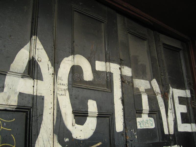Actief teken stock foto