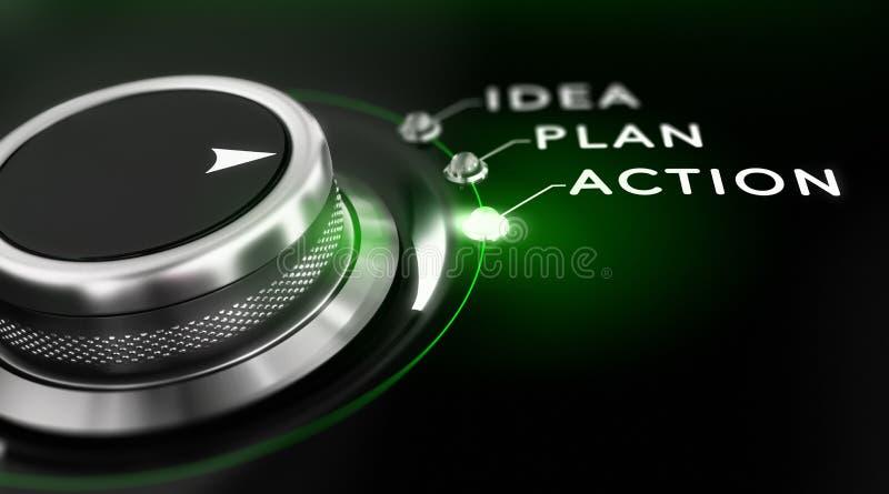 Actieplan stock illustratie