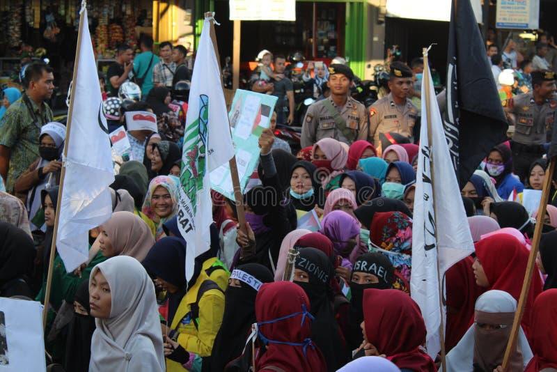 Actiesolidariteit aceh barat voor palestin royalty-vrije stock afbeeldingen