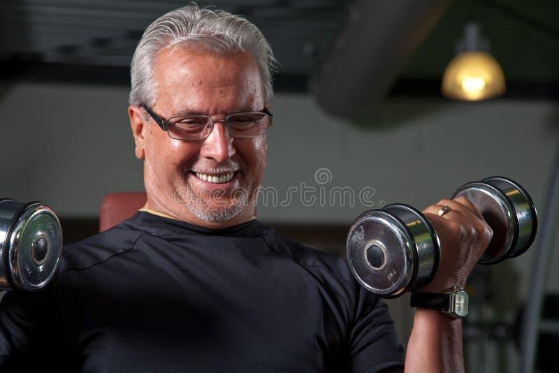 Actieve hogere mens stock fotografie