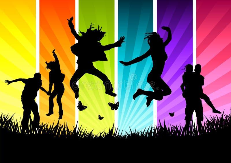Actieve Jonge Mensen stock illustratie