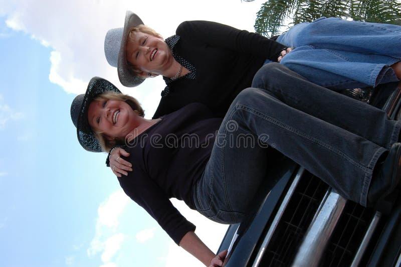Actieve oudere vrouwen stock afbeelding