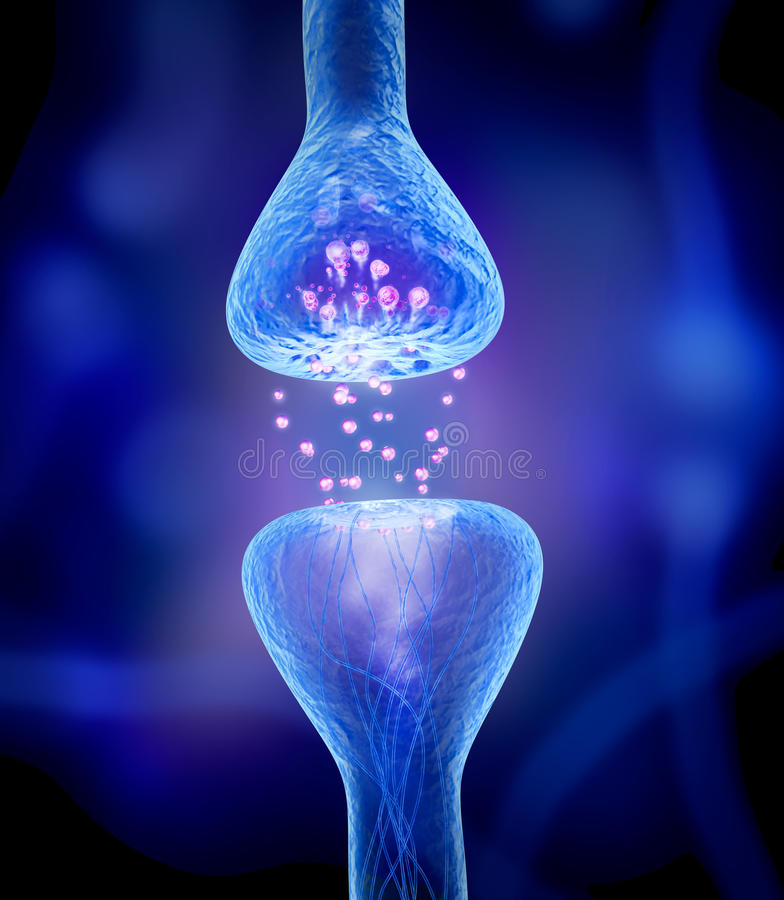 Actieve receptor op blauw royalty-vrije illustratie