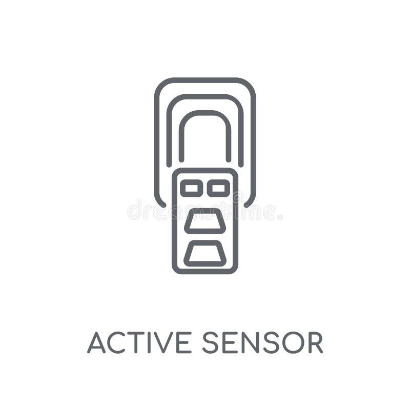 actieve sensor lineair pictogram Het moderne embleem van de overzichts actieve sensor bedriegt stock illustratie