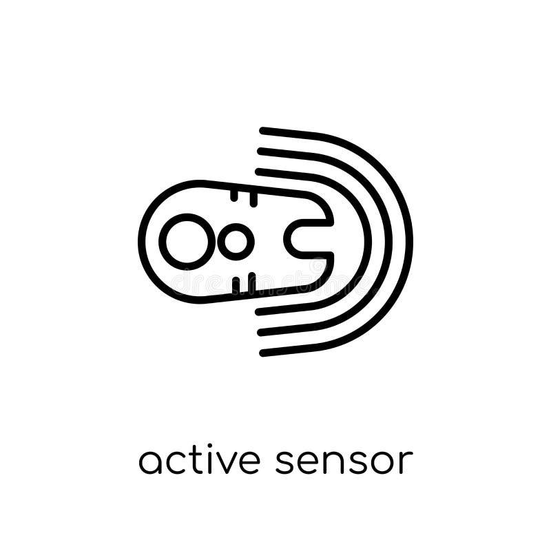 actieve sensorpictogram In moderne vlakke lineaire vector actieve sens vector illustratie