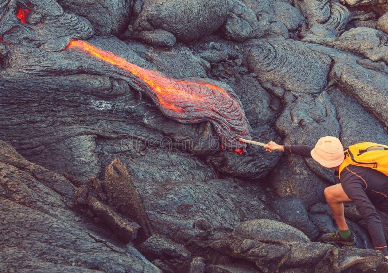 Actieve vulkaan stock afbeelding