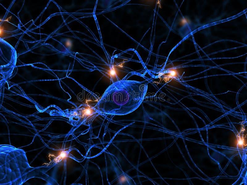 Actieve zenuwcel royalty-vrije illustratie
