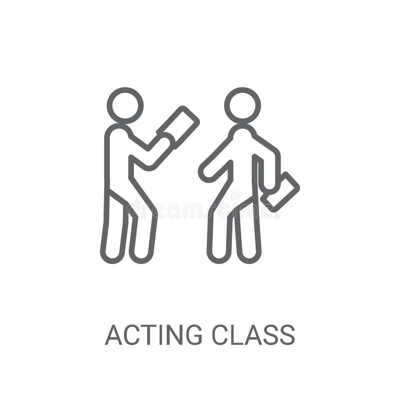 Acting class icon. Trendy Acting class logo concept on white bac. Kground from People collection. Suitable for use on web apps, mobile apps and print media royalty free illustration