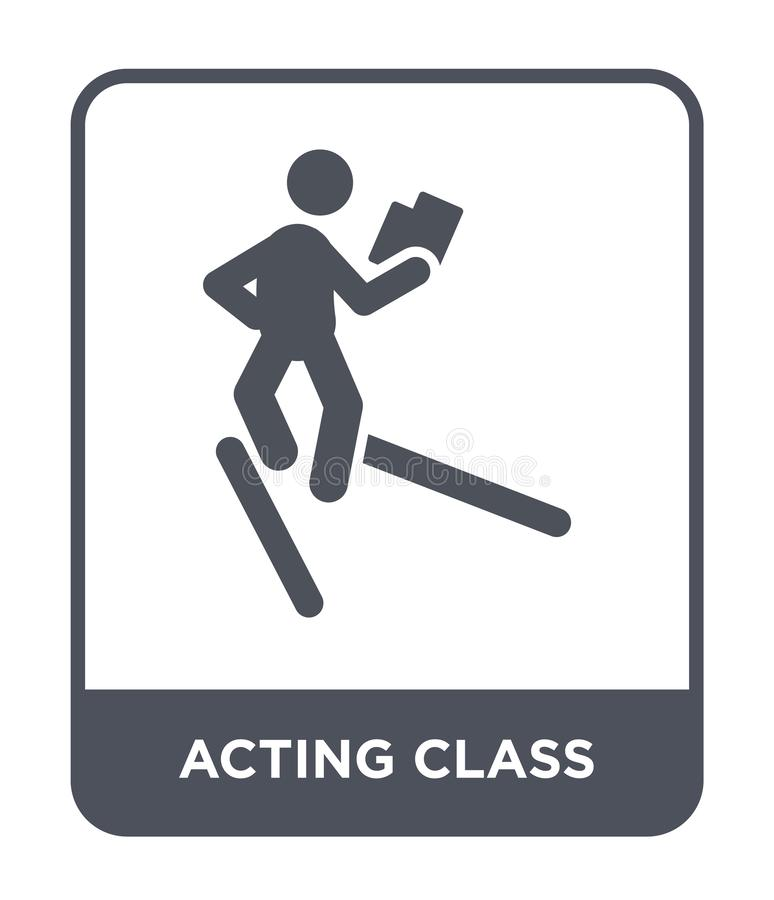 Acting class icon in trendy design style. acting class icon isolated on white background. acting class vector icon simple and. Modern flat symbol for web site stock illustration