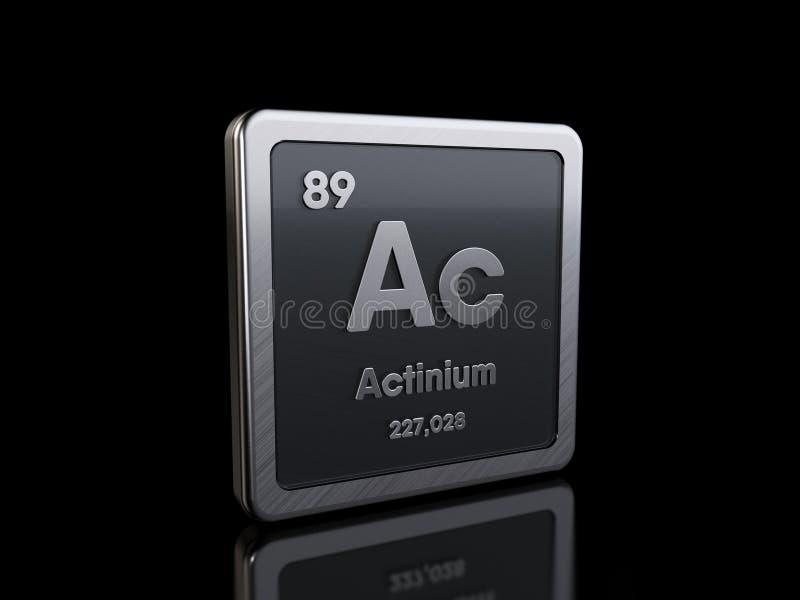 Actinium Ac, elementsymbol från periodiska tabellserier royaltyfri illustrationer