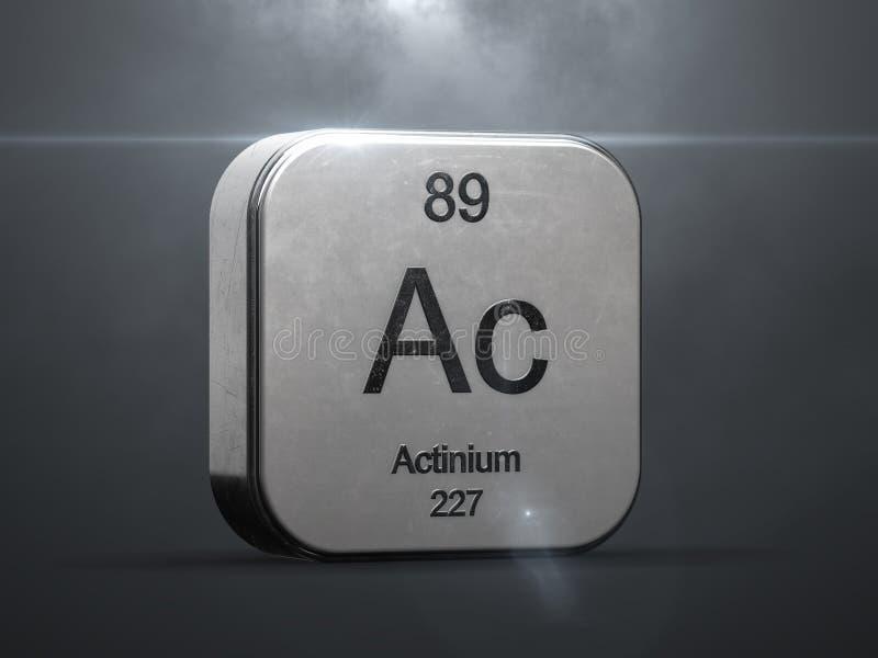 Actinium-element från den periodiska tabellen royaltyfri illustrationer