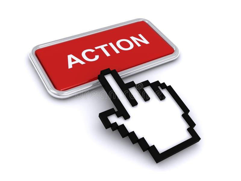 Action button vector illustration