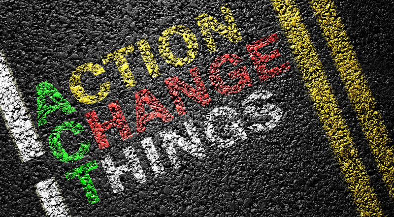 action change things royalty free stock image