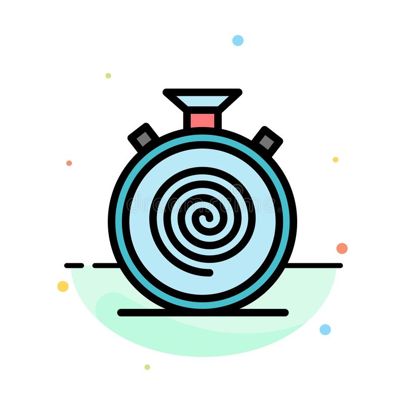 Action, Cycle, Flow, Nonstop, Slow Abstract Flat Color Icon Template royalty free illustration