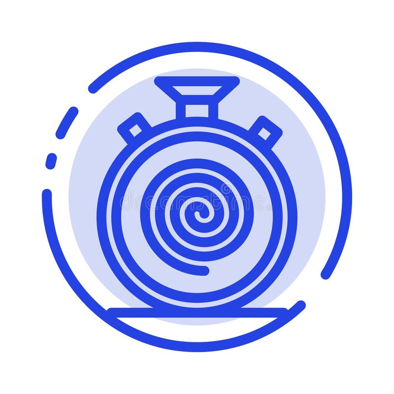 Action, Cycle, Flow, Nonstop, Slow Blue Dotted Line Line Icon stock illustration