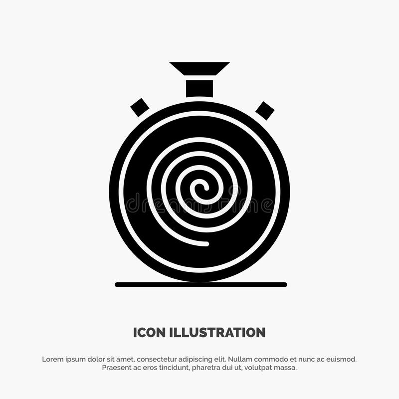 Action, Cycle, Flow, Nonstop, Slow solid Glyph Icon vector royalty free illustration