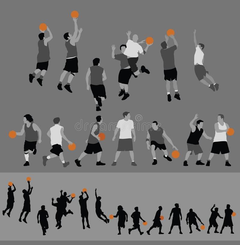 Action de basket-ball illustration libre de droits
