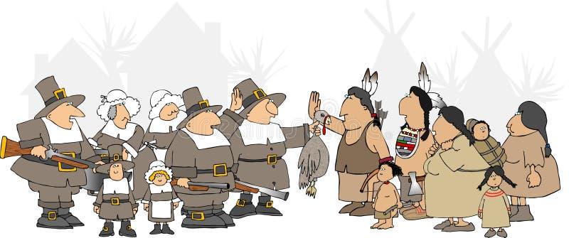 Action de grâces américaine illustration de vecteur
