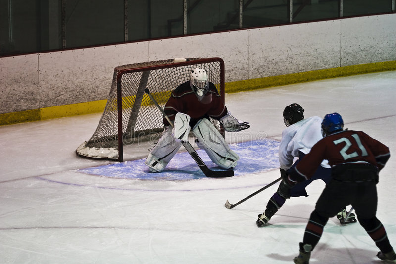 Action de hockey sur glace photo stock