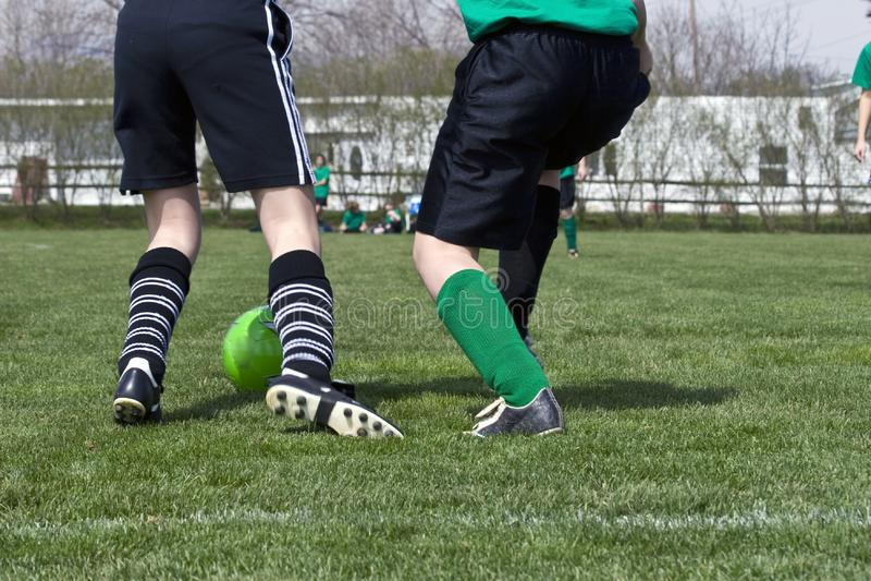 Action de pied du football