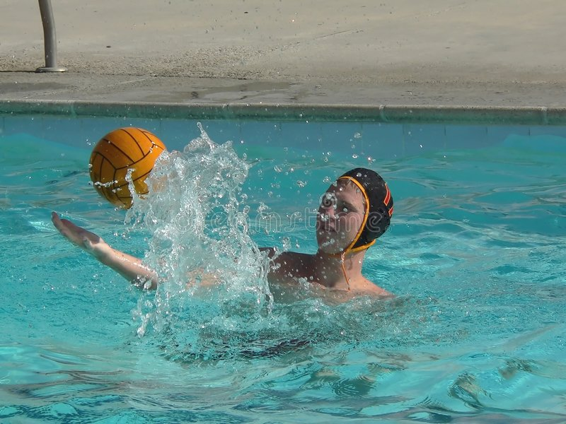 Action de polo d'eau image stock